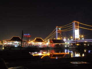Ampera Bridge at Night